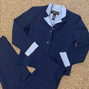Sag Harbor Blue Petite Pant Suit